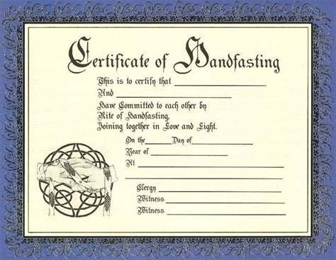 keepsake marriage certificate template keepsake marriage certificate template celtic pagan