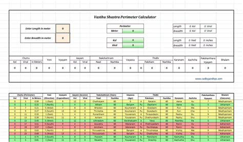 House Building Calculator cad lisp and tips xls vasthu perimeter calculator