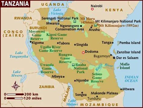 africa map tanzania 39 tanzania 1961 present