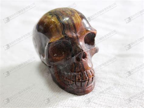 factory price gemstone skull tiger eye skull 虎眼石骷髅头