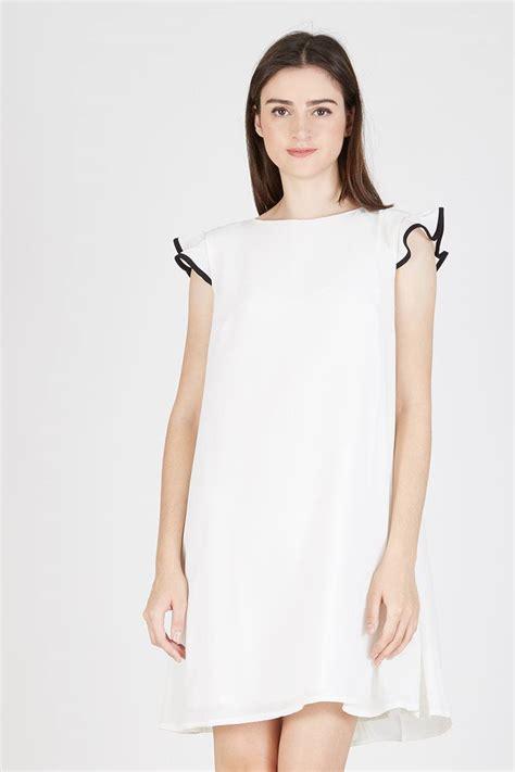 Jv Yukky Ruffle Fit L Besar sell nigella frill dress white casual berrybenka