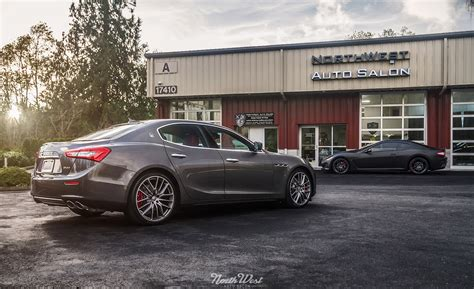 maserati ghibli wrapped maserati ghibli car wrap in xpel stealth paint protection