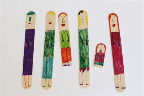 popsicle stick puppets and a mini theater make and takes