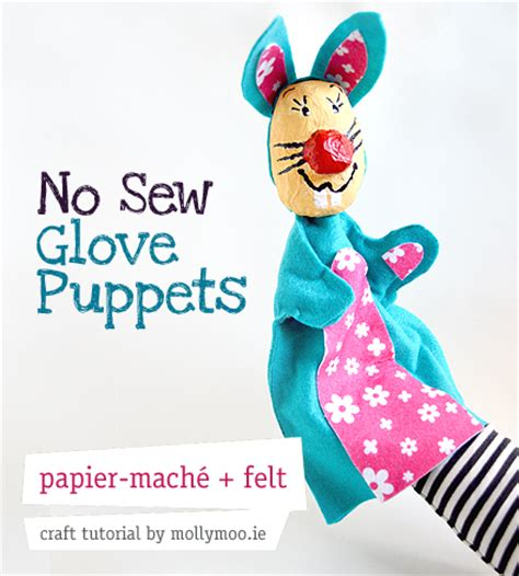 How To Make A Paper Mache Puppet - mollymoocrafts no sew easter crafts papier mache and