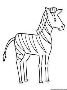 Zebra Outline Picture by Zebra Coloring Pages Free Printable Coloring Pages