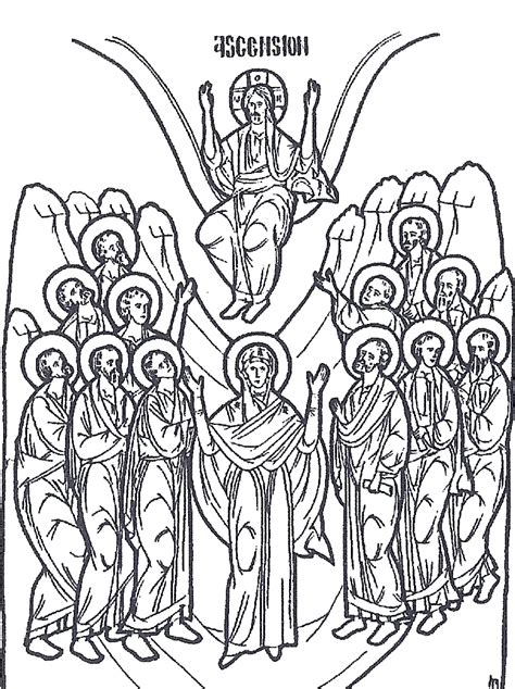 coloring page for jesus ascension ascension of jesus coloring page az coloring pages