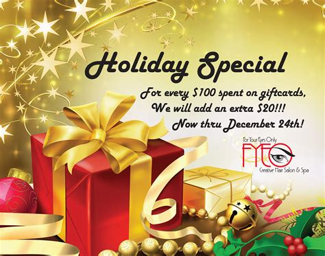 Gift Card Specials - blog for your eyes only salon spa