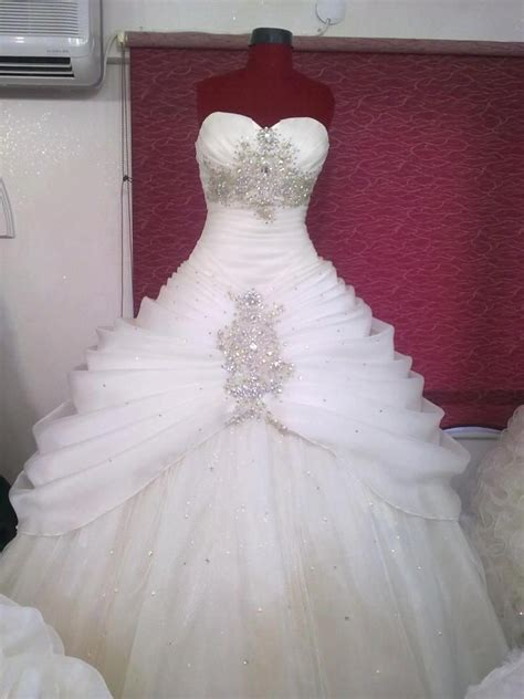 Dress White Tulle Flow white and gold wedding sweetheart corset ballgown dress gold sweetheart corset tulle