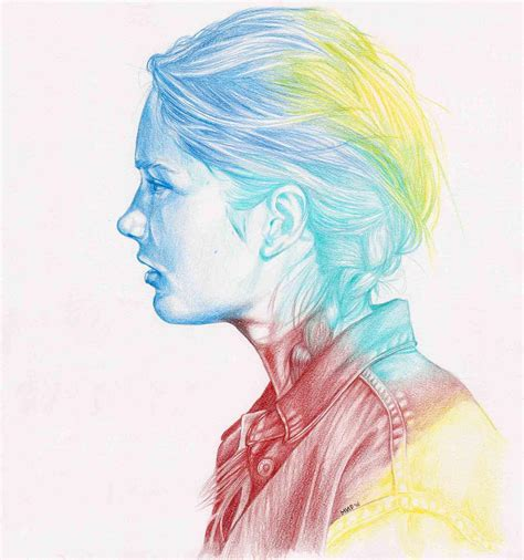 fashion illustration with colored pencils high quality colored pencil illustration and realistic