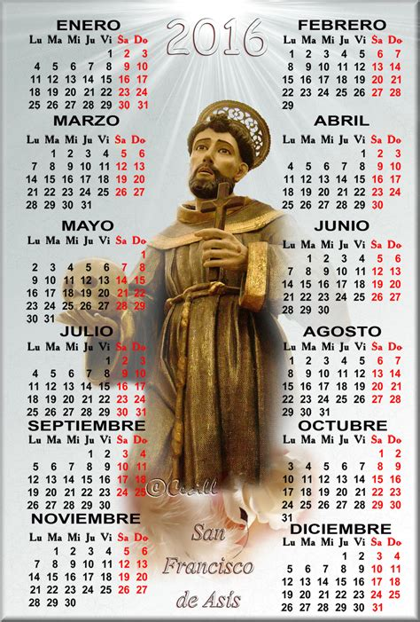 Calendario Religioso Gifs Calendario Religioso De San Francisco De As 205 S A 209 O 2016