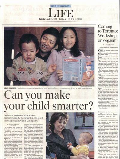 toronto star life section selected media coverage on dr charles ling s work on