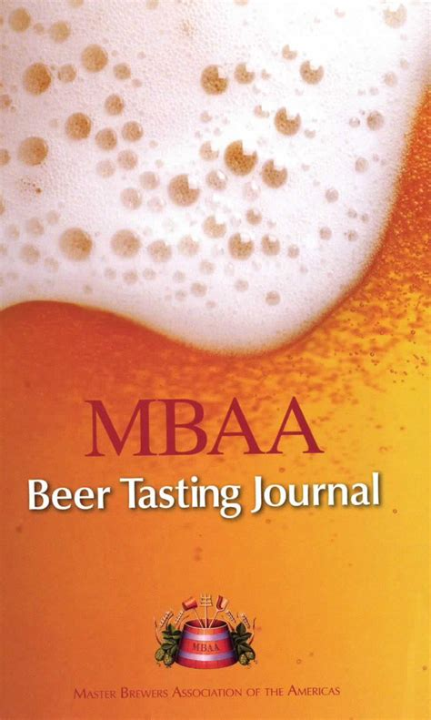 Mba Org by Mbaa Tasting Journal