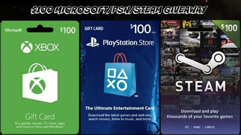 Psn Card Giveaway - 100 xbox psn steam gift card giveaway open youtube