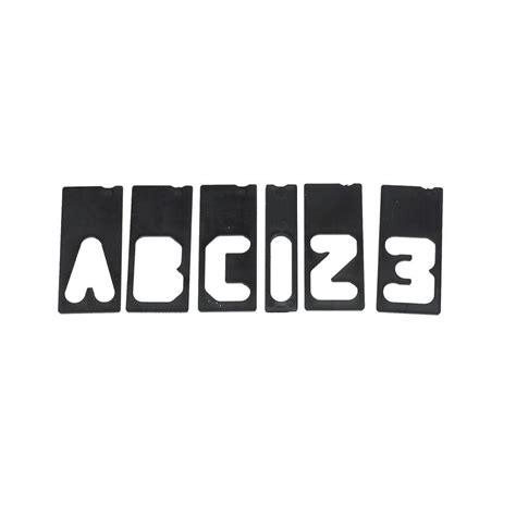 milescraft 2 1 2 in letter number sign template