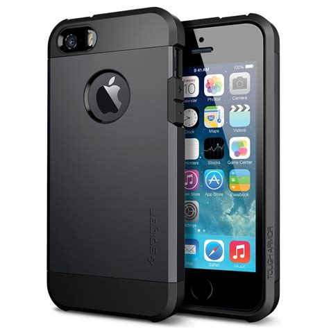 Sgp Iphone 4 Linear Smooth Black Packing Rusak spigen sgp tough armor series for iphone 5s iphone 5 ebay