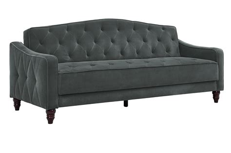 novogratz vintage tufted sofa sleeper dhp furniture novogratz vintage tufted sofa sleeper ii