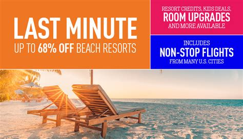 best all inclusive deal last minute deals on all inclusive packages by vacation