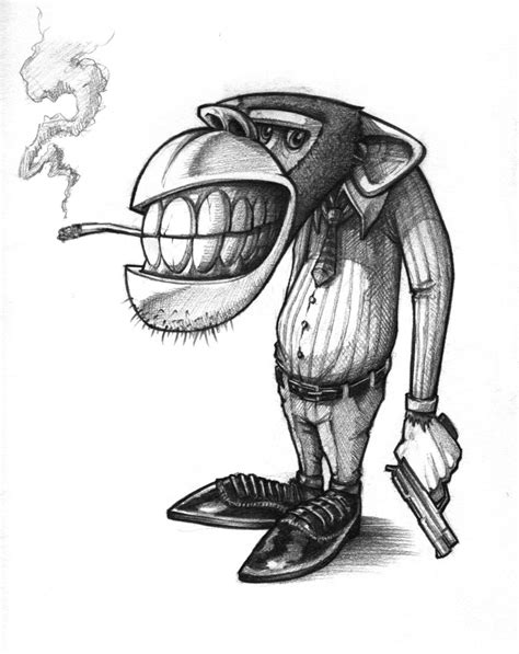 best 25 ideas about gangster pencil drawings of gangster monkeys drawing ideas