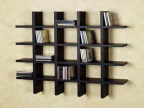 bloombety black wall shelves with cd trays fancy
