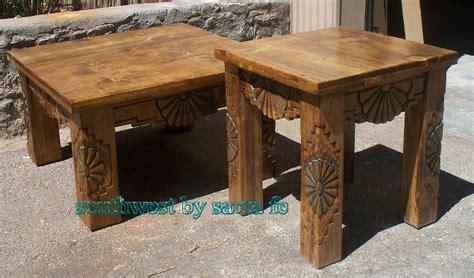 Southwestern Style Table Ls by Southwestern Sunburst End Table