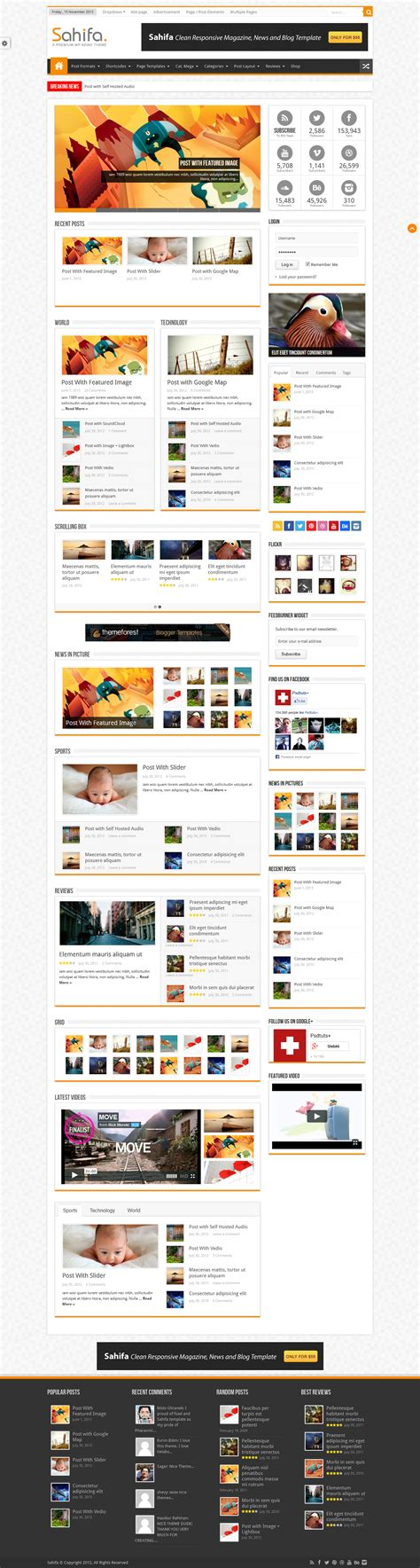 sahifa theme customisation sahifa wordpress blog theme