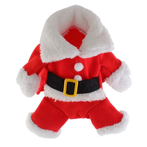 christmas pet dog cat puppy clothes santa claus costume