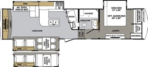 cardinal fifth wheel floor plans cardinal rv floor plans 28 images forest river