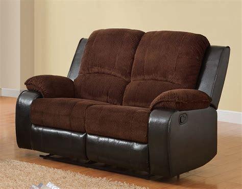 Corduroy Recliner by Homelegance Bunker Reclining Sofa Set Chocolate
