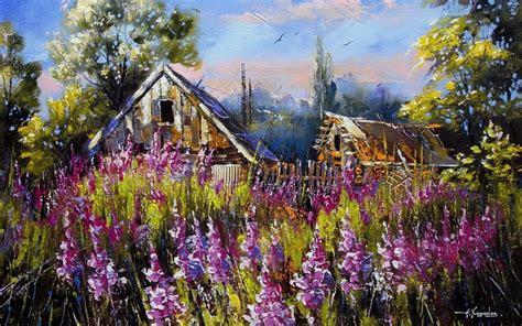 blumenwiese shacks zaun himmel hintergrundbilder