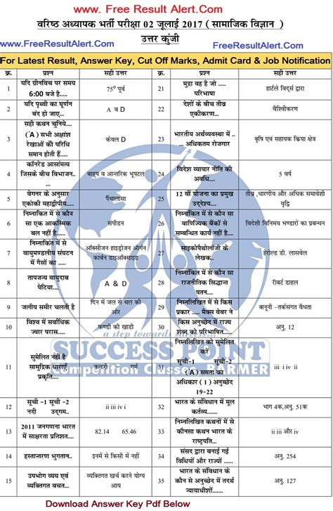 Ncsu Mba Grade Cut by Rpsc 2nd Grade Social Science Answer Key 2017 Official