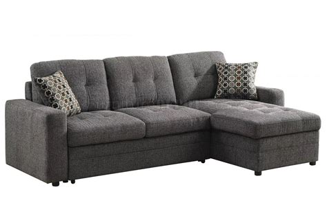 gus sectional gus sectional sofa 501677 by coaster in fabric w sleeper