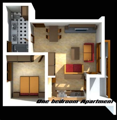 1 room apartment difference between studio apartment and one bedroom