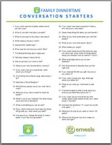 dinner conversation starters support for moms power of