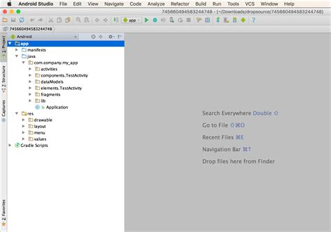 android studio import layout importing source code into android studio dropsource