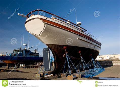 boat paint dry fishing boat dry dock 2 royalty free stock images image