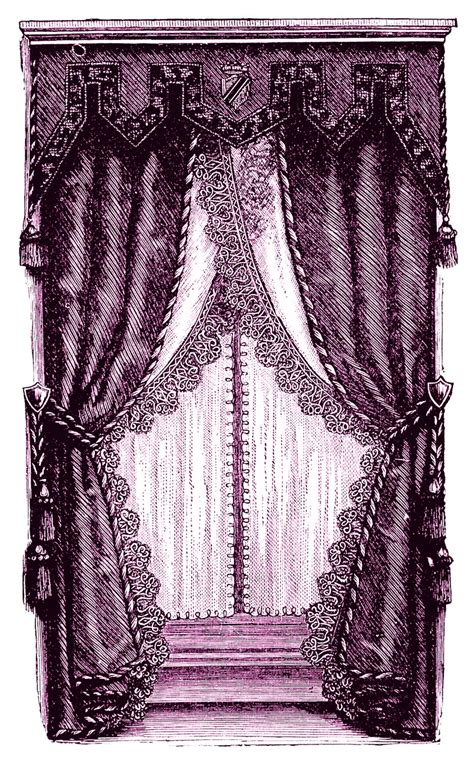 victorian draperies vintage clip art fancy victorian curtains draperies