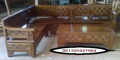 Kursi Kayu Bentuk L kursi tamu pojok sudut jepara minimalis kayu jati ukir kawun ud lumintu gallery furniture
