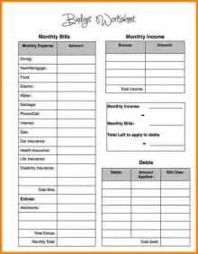 5 simple budget spreadsheet printable timesheets