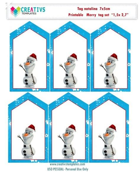 olaf printable gift tags 17 best images about tag para imprimir on pinterest