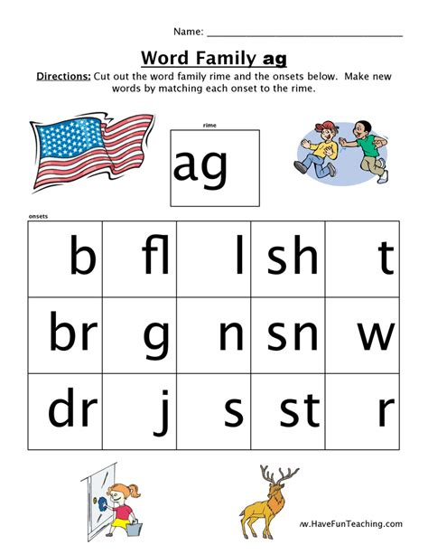 Word Family Worksheets by An Word Family Worksheets Deployday