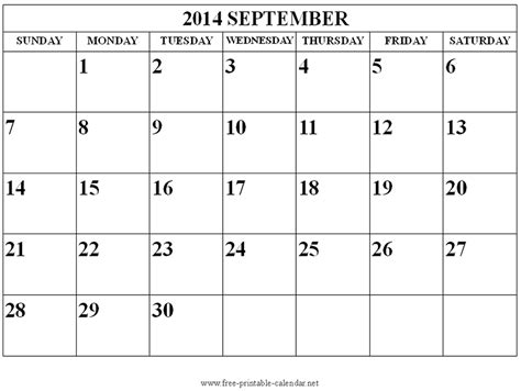 september 2014 calendar template free printable calendar 2017 september 2014 calendar