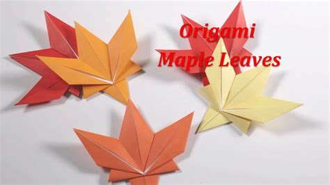 Origami Maple Leaf - origami maple leaf