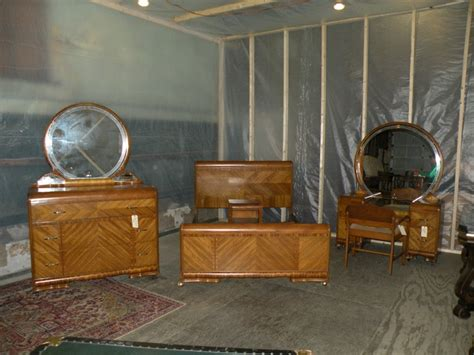 waterfall bedroom set beautiful antique art deco waterfall furniture bedroom set full queen