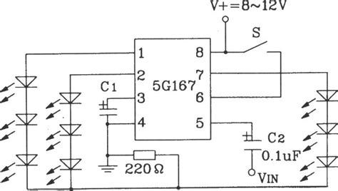 application of integrated circuit ic typical application circuit of 5g167 synchronous lantern ring integrated circuit