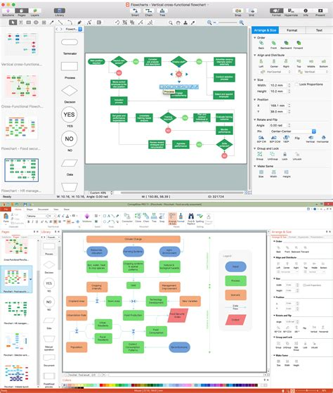 workflow chart software process flow app for macos flow diagram software