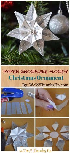 paper snowflake flower tutorial folded paper christmas ornaments budget crafts origami