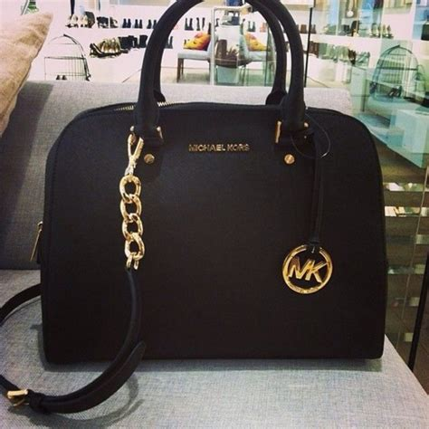 Purse Trend Black With A Touch Of Gold by Bag Michael Kors Michael Kors Bag Black Mickaelkors