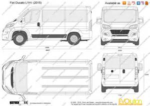 Fiat Ducato Lwb Dimensions The Blueprints Vector Drawing Fiat Ducato L1h1