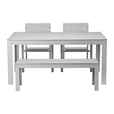Dining Table Bench Ikea Falster Table 2 Chairs And Bench Outdoor Gray Ikea