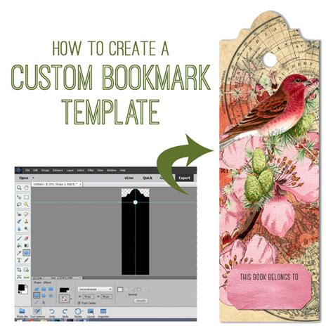 how to make a pattern in photoshop elements 11 create a bookmark in photoshop elements anja de dobbelaere